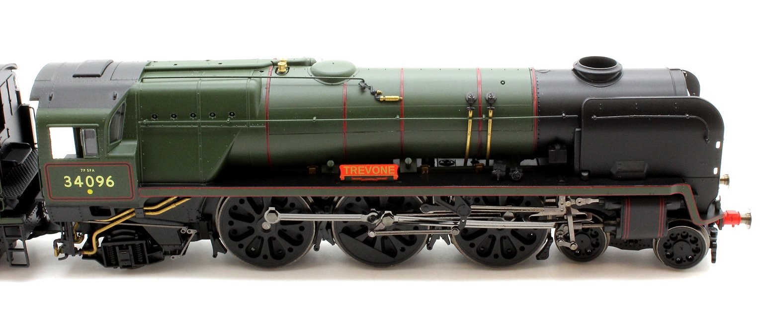 BR Green (Late) 'Trevone' (Rebuilt) West Country Class 4-6-2 Locomotive 34096