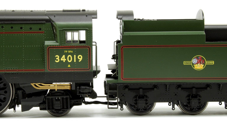 """""""Bideford"""" BR Green (Original) West Country Class 4-6-2 Locomotive No.34019"""