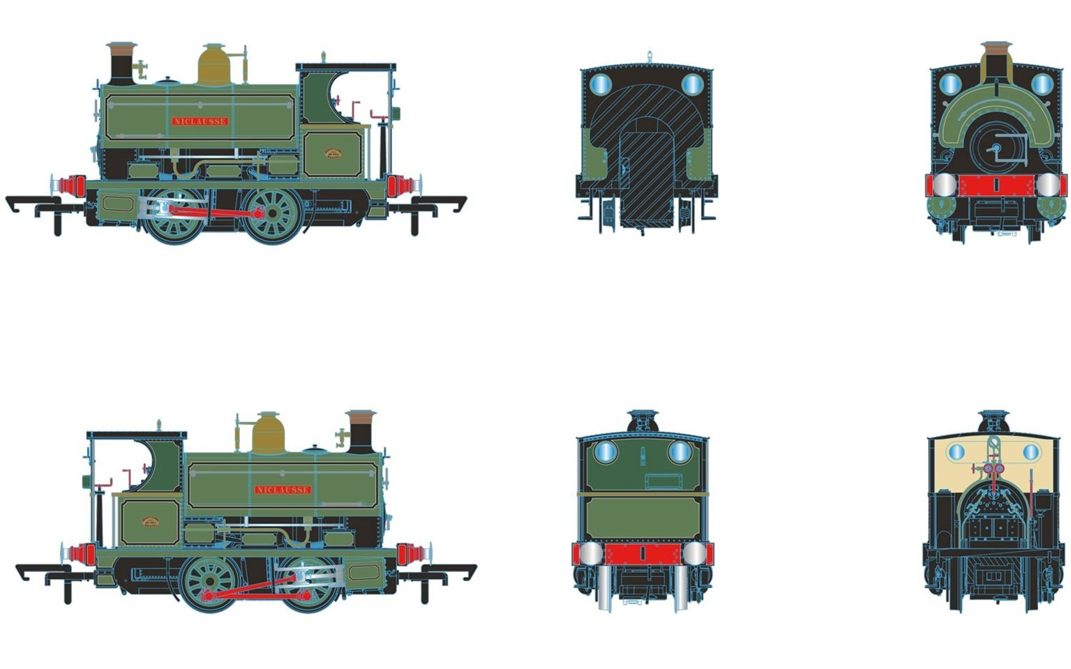 """Peckett Willians and Robinson No. 882/1902 """"NICLAUSSE"""" 0-4-0ST"""