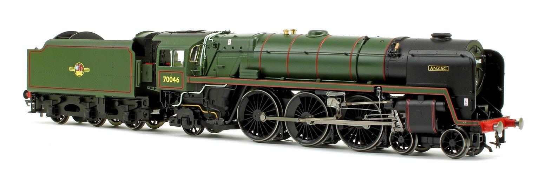 'Anzac' BR Green Standard 7 Britannia Class 4-6-2 Locomotive No.70046