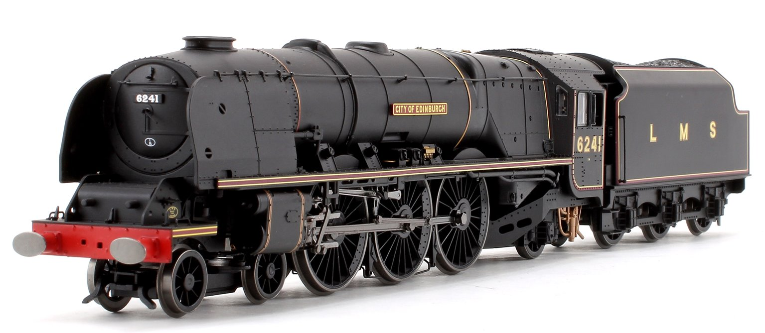 'City of Edinburgh' LMS Black Princess Coronation Class 4-6-2 Steam Locomotive No.6241