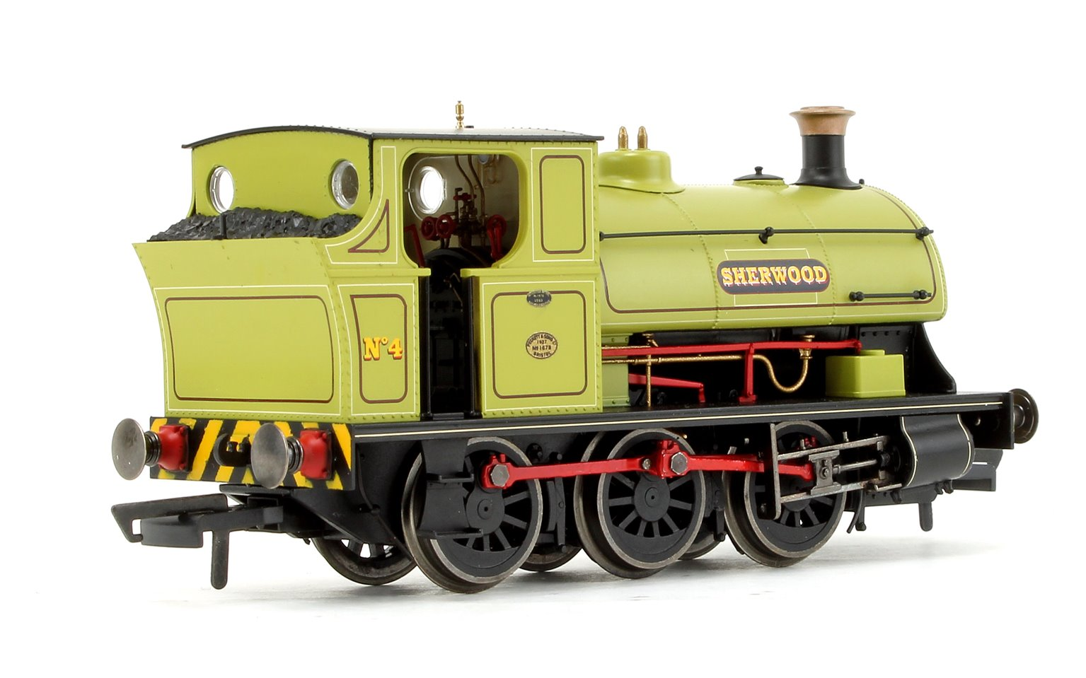 Sherwood Colliery Co. Ltd, Peckett B2 Class, 0-6-0ST, No.4 'Sherwood' DCC FITTED