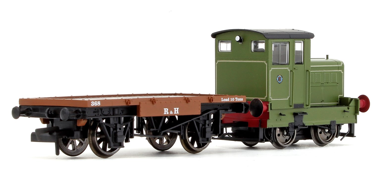 Ruston & Hornsby Ltd, R&H 48DS, 0-4-0, No. 269595 and Flatbed Wagon