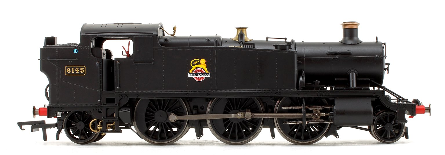 Class 61xx Large Prairie BR Black 2-6-2 Tank Locomotive No.6145 (DCC Fitted)