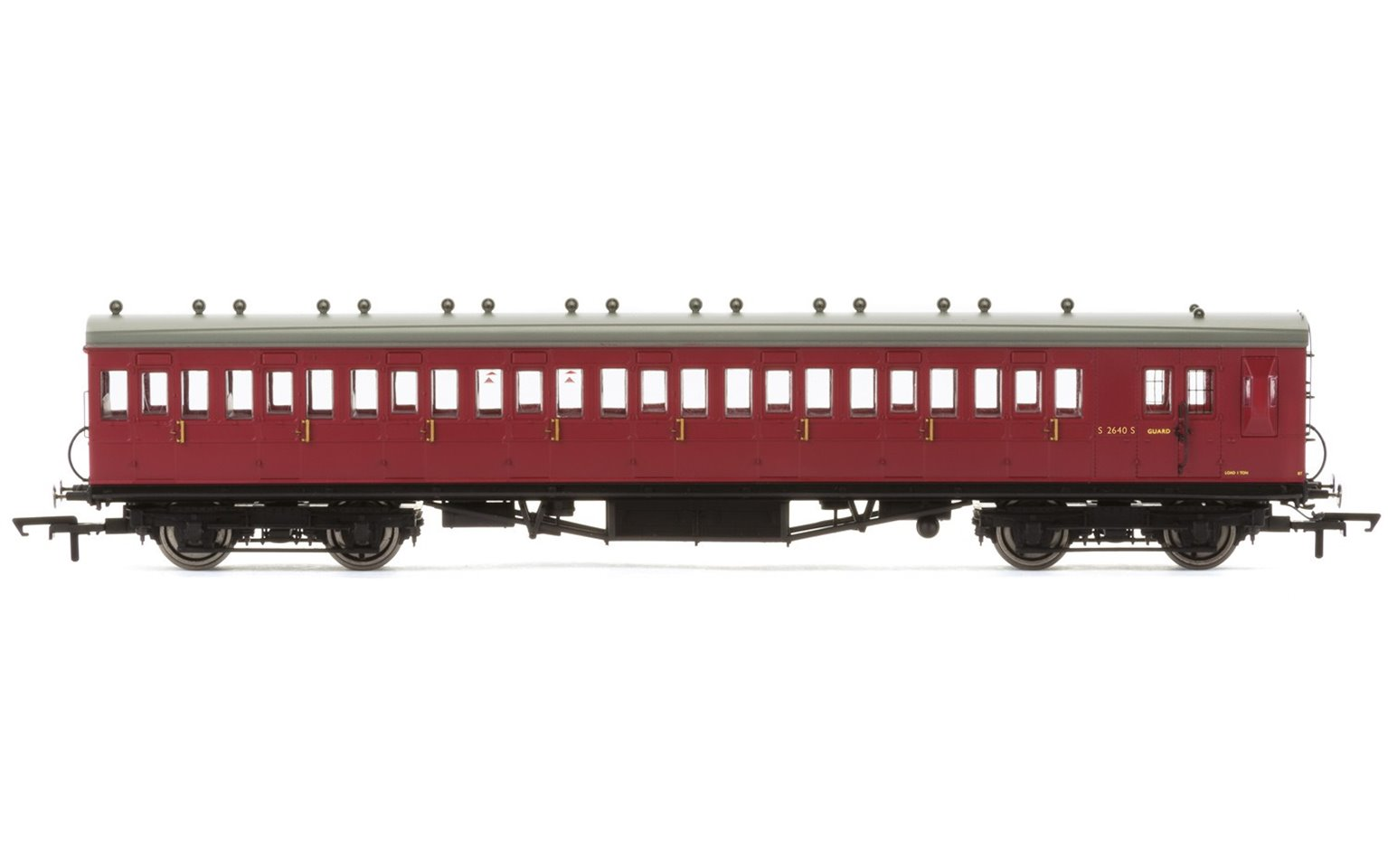 Set of 4 BR Maroon BR 58' Maunsell Rebuilt (Ex-LSWR 48') Coaches