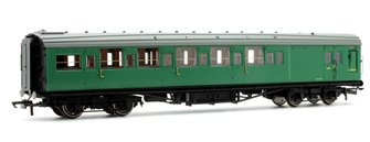 BR (exSR) Green Maunsell Corridor Six Compartment Brake Second Coach S2763S 'Set 230'