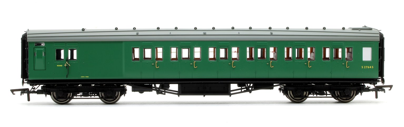 BR (exSR) Green Maunsell Corridor Six Compartment Brake Second Coach S2764S 'Set 230'