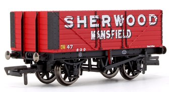 'Sherwood Colliery' 7 Plank Wagon No. 47