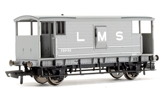LMS Grey D1919 20T Brake Van No.730132