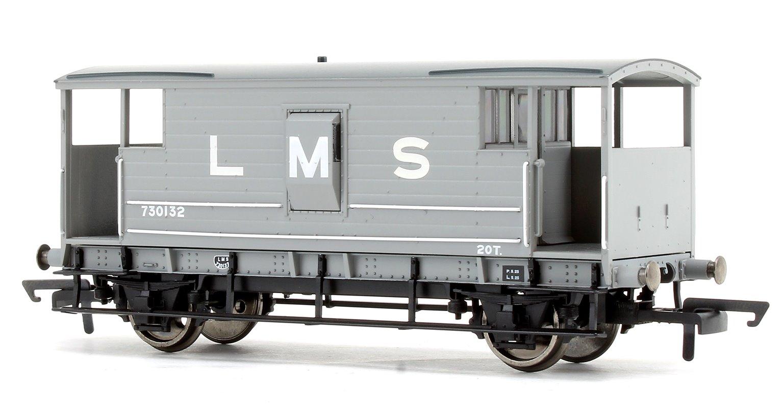 LMS Grey D1919 20T Brake Van No.730132