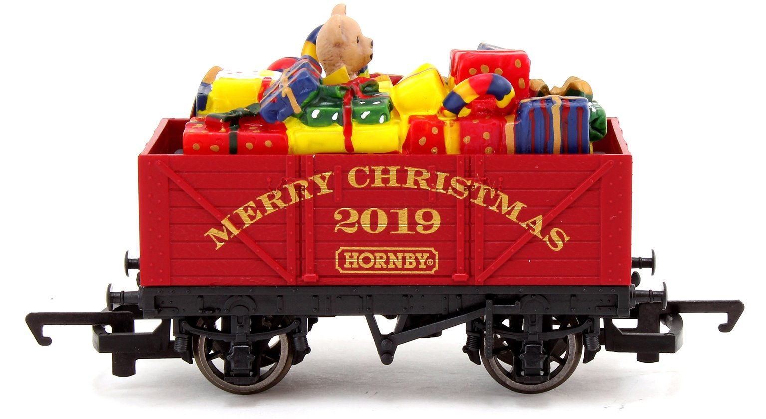 Hornby 2019 Christmas 7 Plank Wagon with toy load