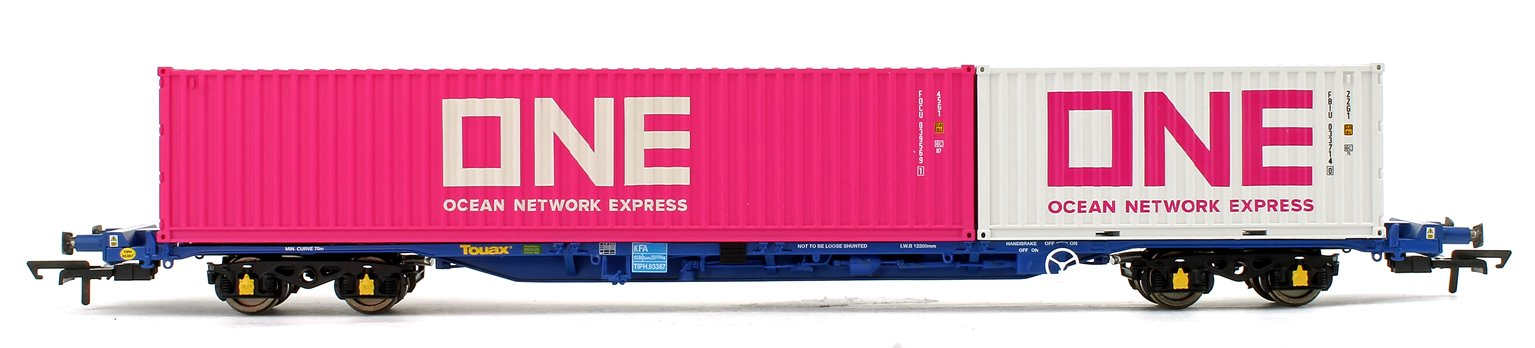 Tiphook KFA Container Wagon No.93367 with 20' and 40' ONE Containers