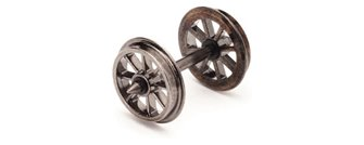 Pack of 10 X spoked wheels on axles