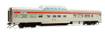 Budd Mid-Train Dome Car - CP Rail Action Red #516 - Voiture Skyline