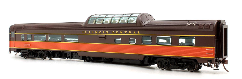 Budd Mid-Train Dome Car - Illinois Central #2200 - Voiture Skyline