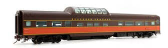 Budd Mid-Train Dome Car - Illinois Central #2022 - Voiture Skyline