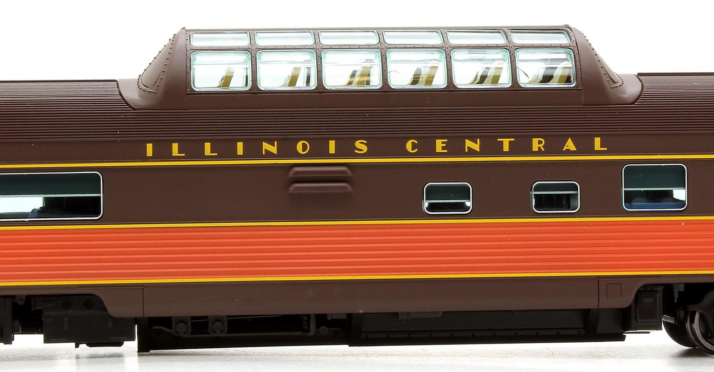 Budd Mid-Train Dome Car - Illinois Central #2022 - Voiture Skyline