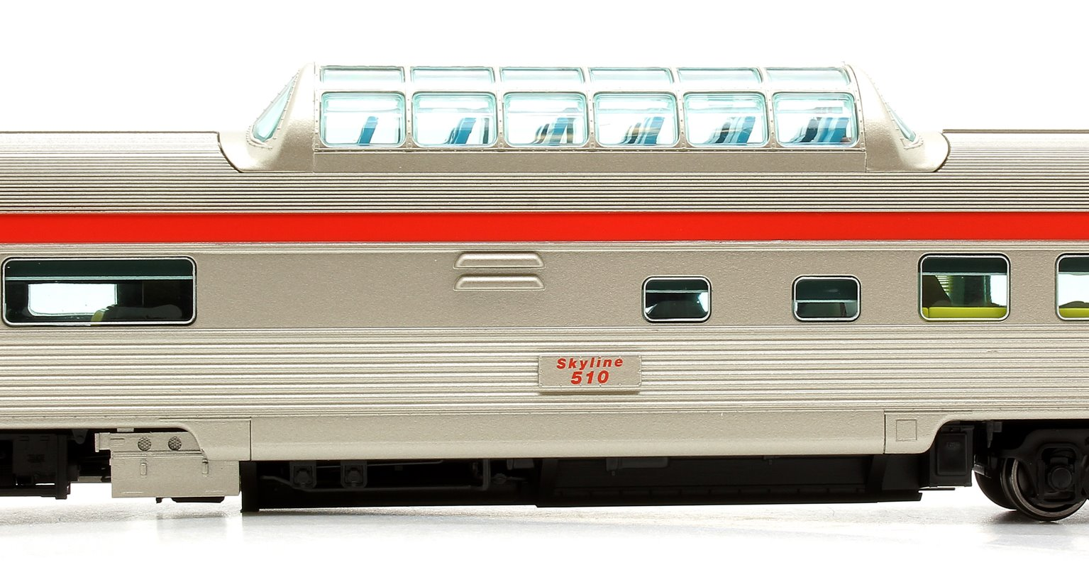 Budd Mid-Train Dome Car - CP Rail: Action Red #510 - Voiture Skyline