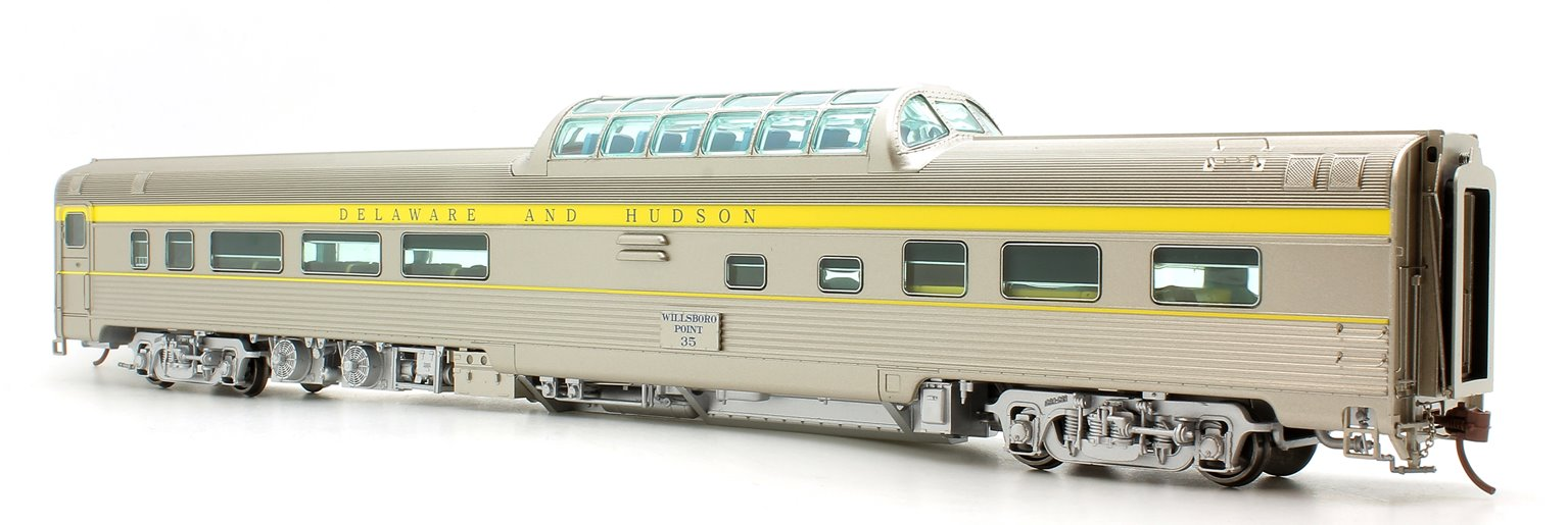 Budd Mid-Train Dome Car - Delaware & Hudson Willboro Point #35 - Voiture Skyline