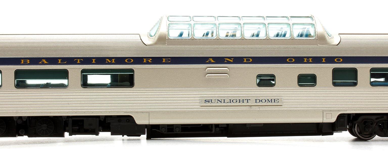 Budd Mid-Train Dome Car - Baltimore & Ohio Sunlight Dome - Voiture Skyline