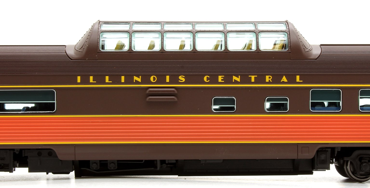 Budd Mid-Train Dome Car - Illinois Central #2201 - Voiture Skyline