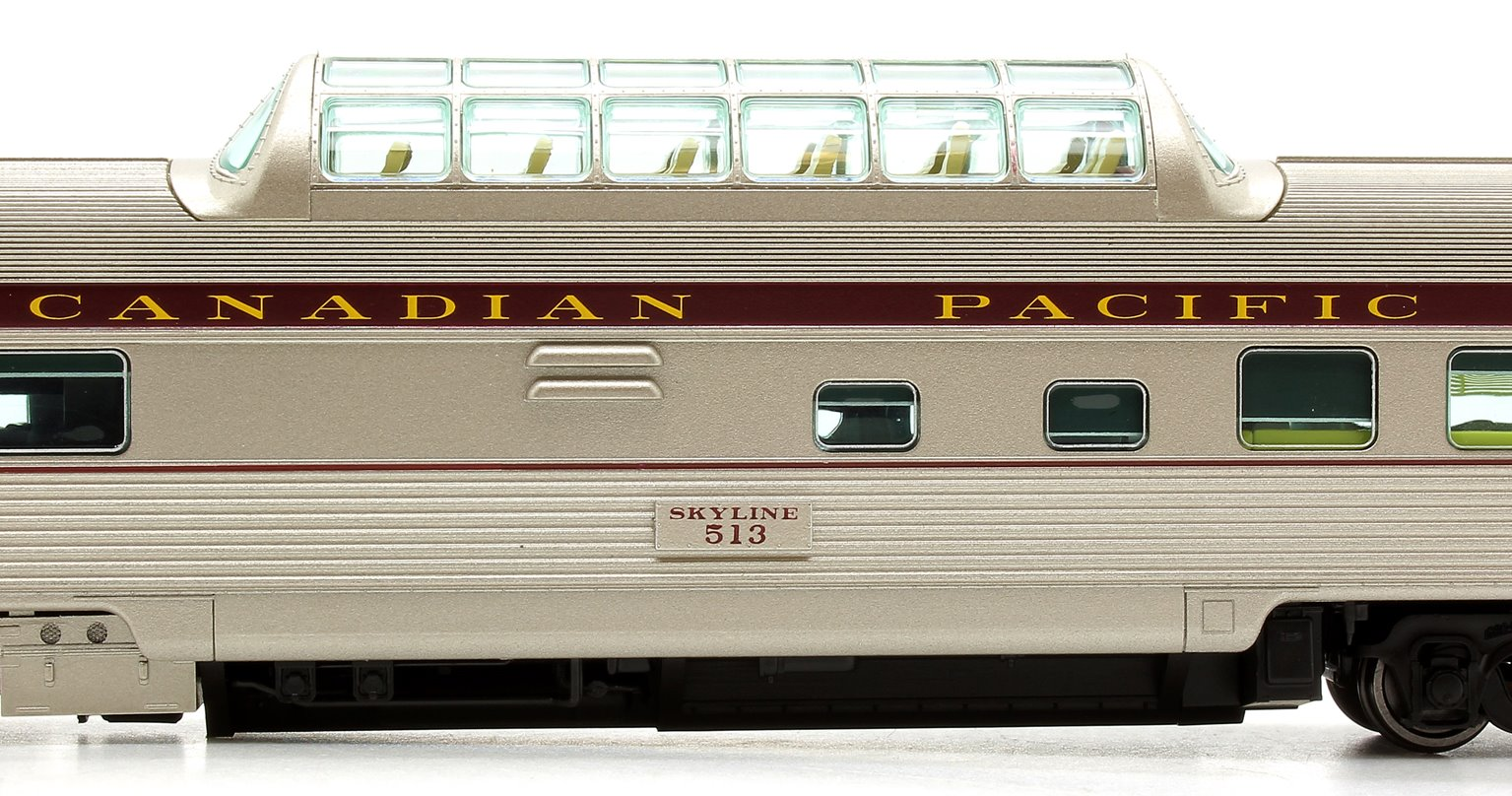 Budd Mid-Train Dome Car - Canadian Pacific Block #513 - Voiture Skyline