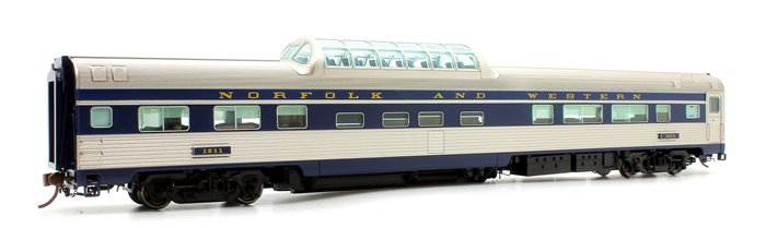 Budd Mid-Train Dome Car - Norfolk & Western #1611 - Voiture Skyline
