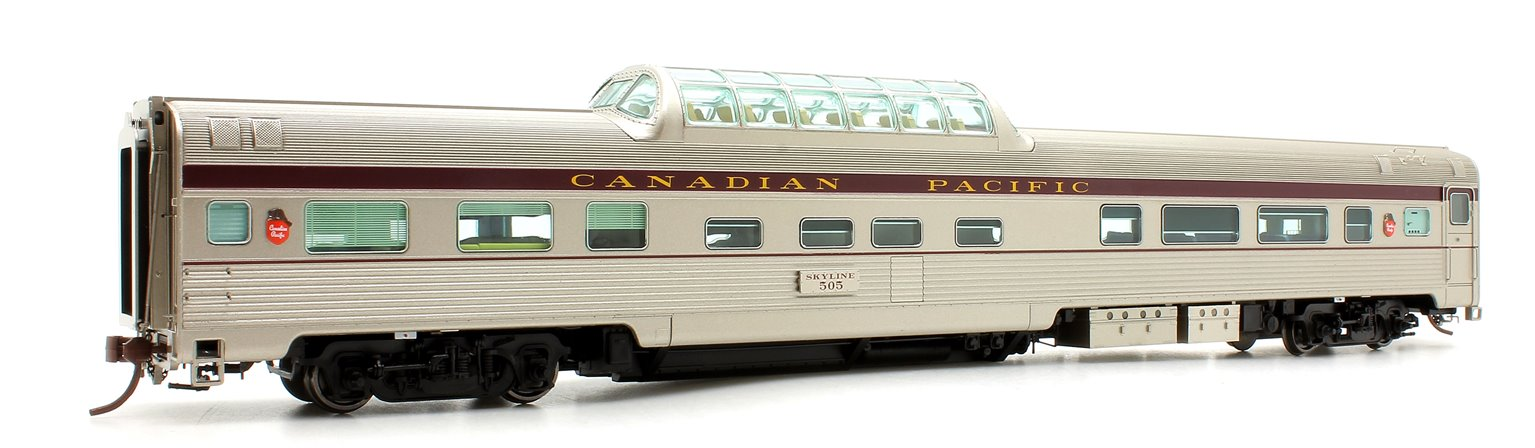 Budd Mid-Train Dome Car - Canadian Pacific Block #505 - Voiture Skyline