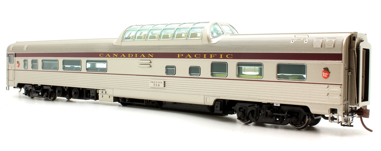 Budd Mid-Train Dome Car - Canadian Pacific Block #514 - Voiture Skyline
