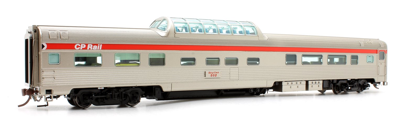 Budd Mid-Train Dome Car - CP Rail Action Red #502 - Voiture Skyline