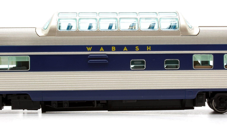 Budd Mid-Train Dome Car - Wabash #201 - Voiture Skyline