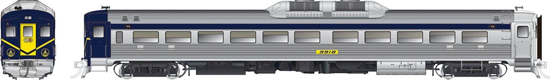 B&O 9918 (ex-ATSF DC-191) RDC-1 (Phase Ib) Ex-ATSF - DCC Silent