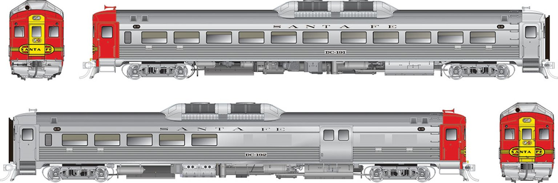 RDC-1 / RDC-2m Atchison Topeka & Santa Fe #DC-191 & #DC-192 - DCC Silent