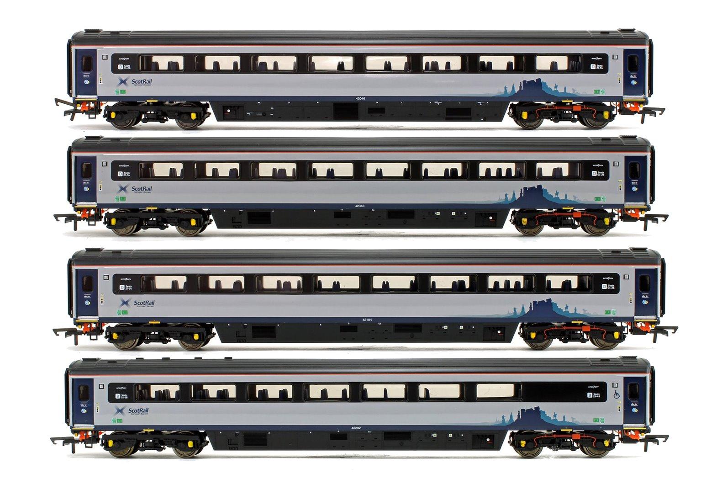 Rake of 4 Scotrail Mk3 Sliding Door Coaches