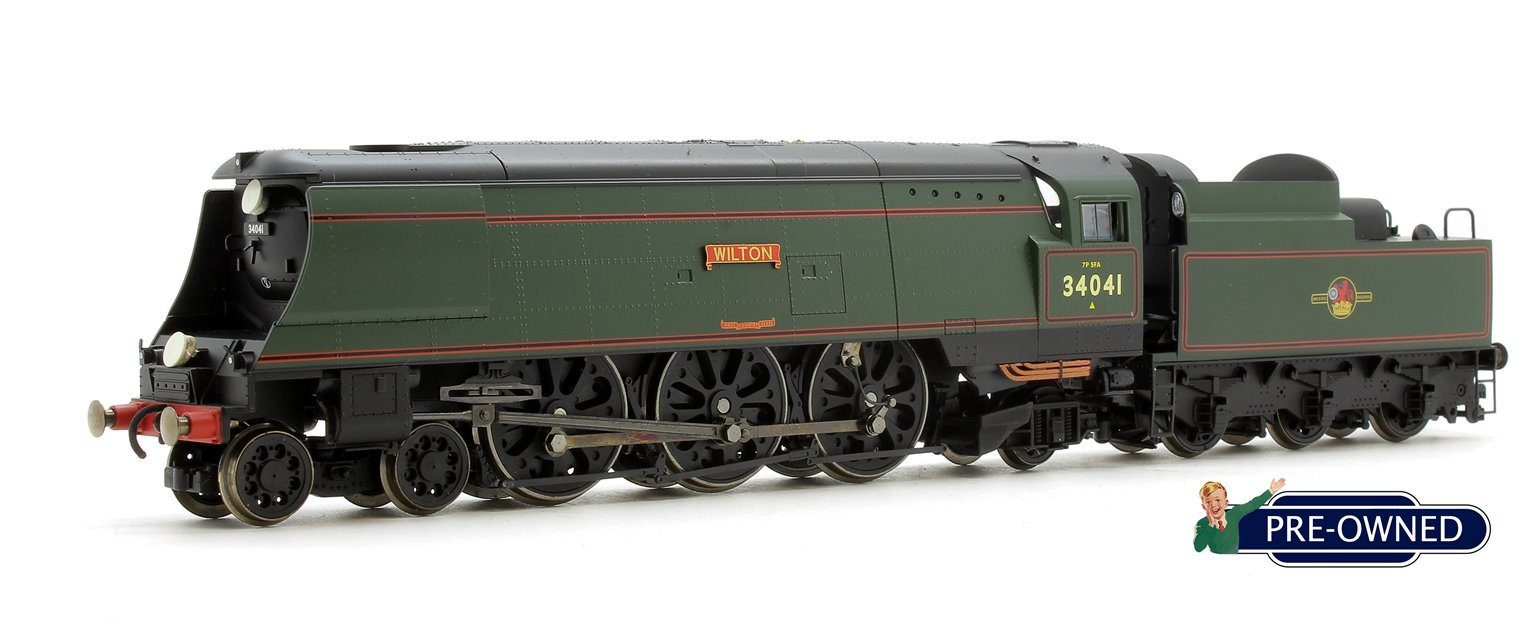 PRE-OWNED Hornby R2218 'Wilton' BR Green West Country 4-6-2 Locomotive 34041