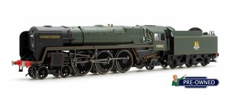 PRE-OWNED Hornby Renamed 'Geoffrey Chaucer' BR Green Britannia 4-6-2 Locomotive 70002