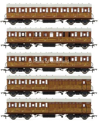 Set of 5 LNER Teak Gresley Suburban Passenger Coaches