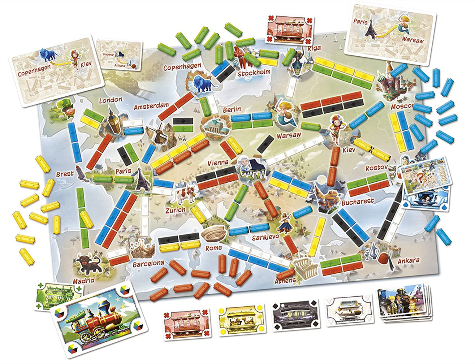 Ticket to Ride: First Journey Europe Board Game