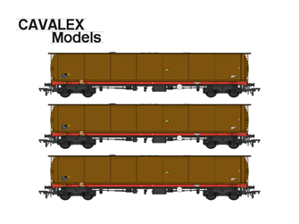 102T TEA Bogie Tank Wagon (Weathered edition) Triple Pack