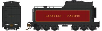 12,000 Gallon CPR coal tender with Commonwealth Trucks – CPR