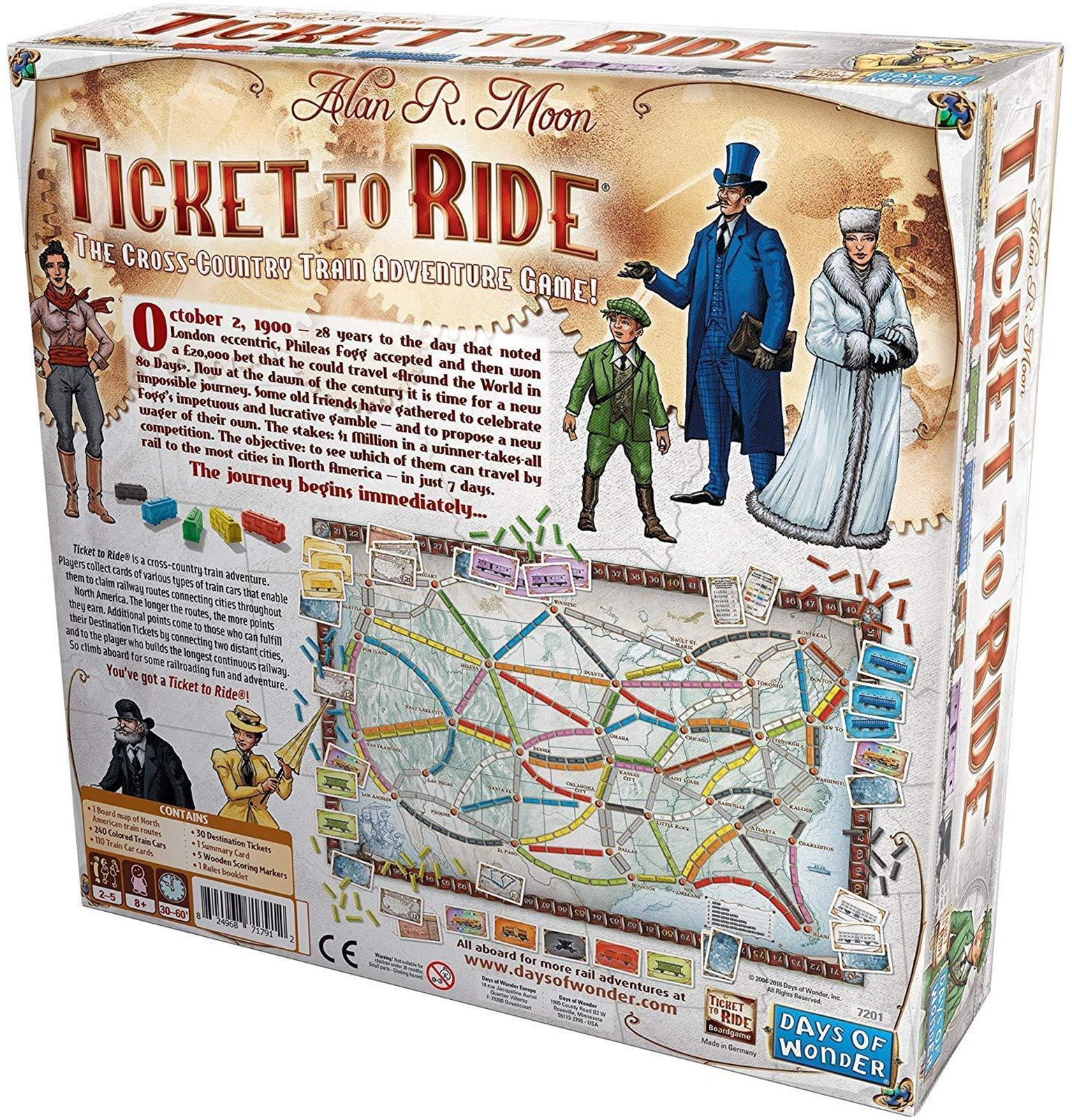 Ticket to Ride Board Game (Original USA Edition)