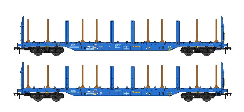 Touax Blue IWA Rfnoos Timber Wagon Twin Pack