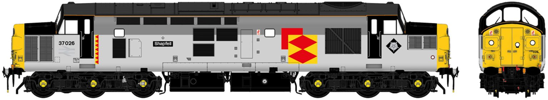 "Class 37/0 37026 ""Shapfell"" Railfreight Distribution Diesel Locomotive DCC Sound"