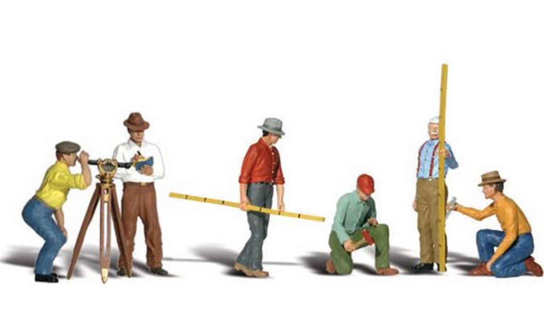 Woodland Scenics WA2175 N Gauge Figures - Surveyors