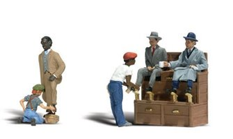 Woodland Scenics WA2176 N Gauge Figures - Shoe Shiners