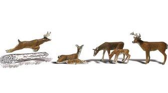 Woodland Scenics WA2185 N Gauge Figures - Deer