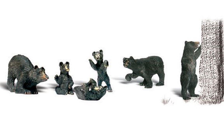 Woodland Scenics WA2186 N Gauge Figures - Black Bears