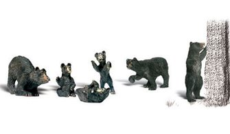 Woodland Scenics WA2186 N Gauge Figures - Black Bears