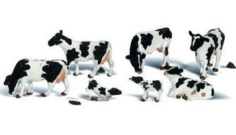 Woodland Scenics WA2187 N Gauge Figures - Holstein Cows