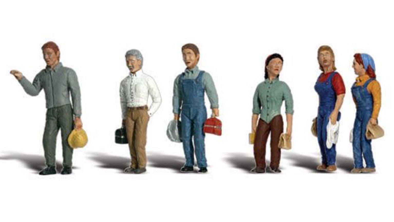 Woodland Scenics WA2188 N Gauge Figures - 2nd Shift Workers